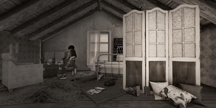 Screen in the attic